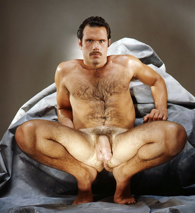 Men hairy naked muscle